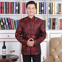 Lovers Dress Longevity Traditional Mens Chinese Clothing Men Cheongsam Shirt Kung Fu Jacket Pattern Tang Suit Hanfu Hommes