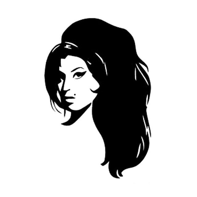 10.6cm*15.9cm Amy Amie Winehouse Fashion Car-Styling Stickers Decals Vinyl Black/white wall sticker