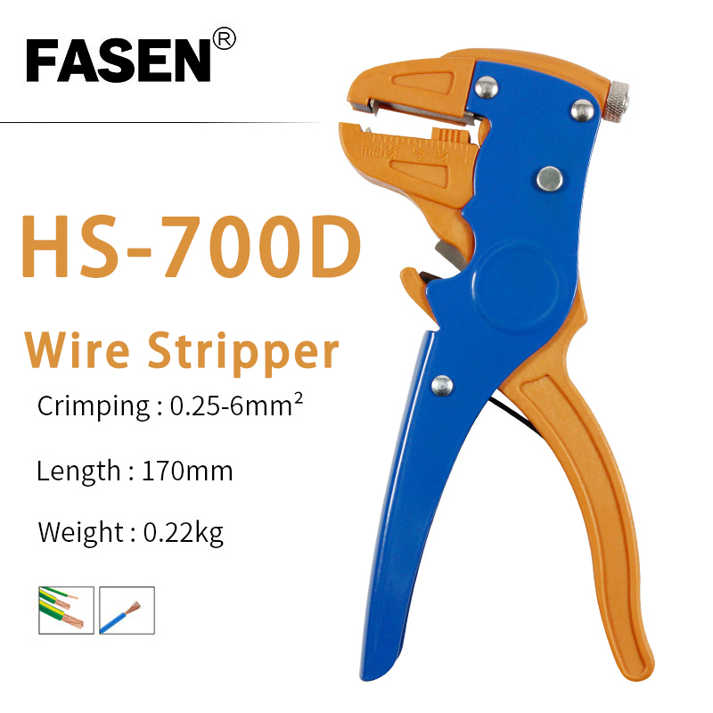 Self-adjusting Insulation Wire Stripper Cutter Hand Crimping Tool HS-700D 0.25-6mm2 With High Quality