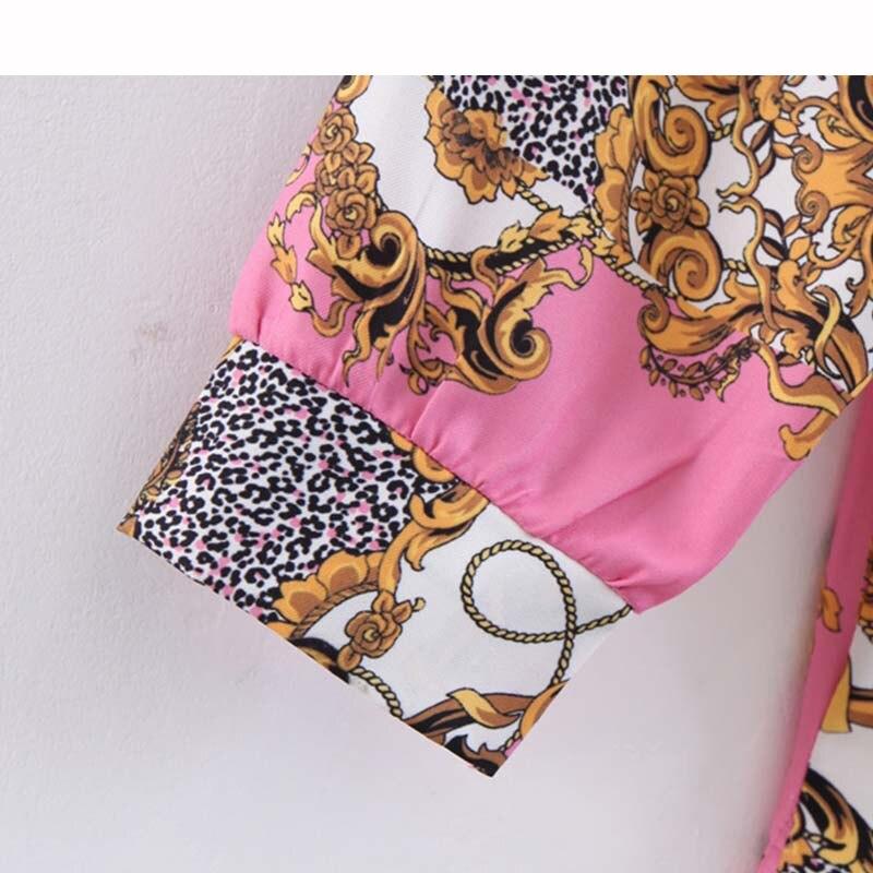 Blouse Women 2019 Women Elegant Print Blouse Long Sleeve Turn Down Collar Shirt Female Causal Stylish Top Blusa Dropship