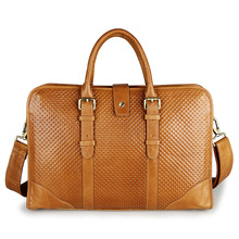 Fashion Genuine Leather Men Messenger Bags Laptop Handbag Men's Briefcase Portfolio Bussiness Men's Travel Bags #VP-J7339