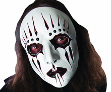 2pcs Red/Black Slipknot Joey Cosplay Mask Halloween white slipknot mask male party mask masquerade masks 2pcs lot halloween masquerade mask black friday no 13 jason voorhees freddy hockey festival party masks