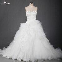 Органза Свадебные платья с взъерошенными органзы нижней в наличии rsw701