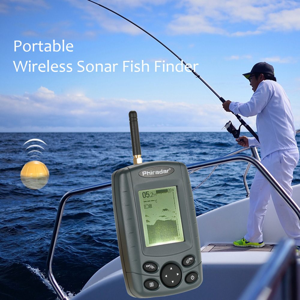 new 36m waterproof portable sonar lcd fish finders fishing lure, Fish Finder