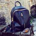 PU leather with leather leather shoulder bag Korean fashion simple leisure travel backpack mummy bag bag