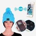 20 unids/lote Nuevo Soft Warm Beanie Hat Cap Auriculares Auriculares Micrófono Altavoz Bluetooth Inalámbrico Inteligente Bluetooth Sombrero