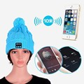 20pcs/Lot New Soft Warm Beanie Hat Wireless Bluetooth Smart Cap Headset Headphone Speaker Mic Bluetooth Hat