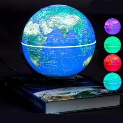 6 بوصة المغناطيسي الدورية غلوب مكافحة الجاذبية العائمة الرفع كرة أرضية خريطة العالم لسطح المكتب مكتب ديكور المنزل أفضل هدية