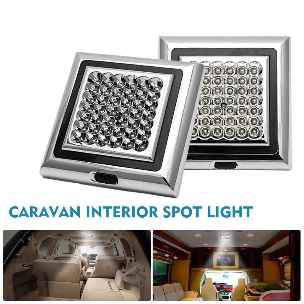 2x 42 LED 12 V Interior Roof Ceiling Dome Light Ceiling Cabin Spot Light For Caravan Camper Boat Dome Light Universal