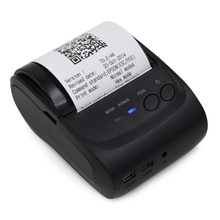 5802 Portable Mini Bluetooth Printer with 58mm Pocket Mobile Phone POS Thermal Receipt Printer for iOS Android Windows