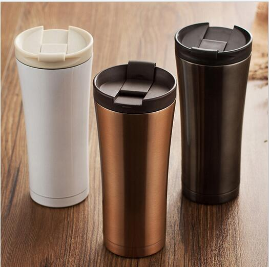 High Quality Double Wall Stainless Steel Coffee Thermos Cups Mugs Thermal Bottle 500ml Thermo cup Vacuum