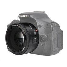 En Stock! Objectif YONGNUO YN50mm f1.8 YN EF 50mm f/1.8 AF YN50 ouverture mise au point automatique pour les appareils photo reflex numériques Canon EOS