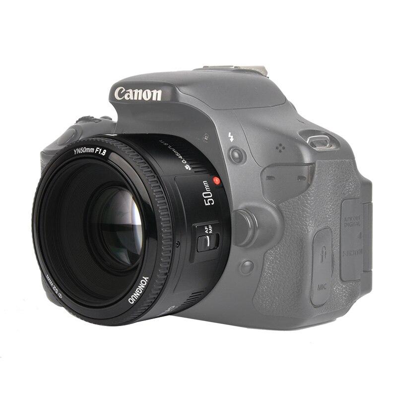 En stock! YONGNUO YN50mm f1.8 YN EF 50mm f/1.8 Objectif AF YN50 Ouverture Auto Focus pour Canon EOS appareils photo reflex numériques