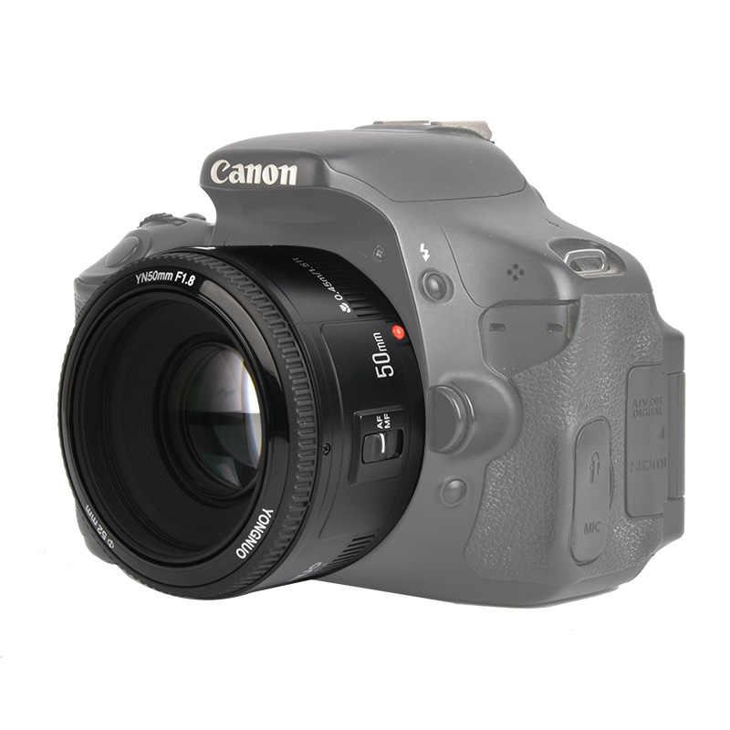 W magazynie! YONGNUO YN50mm f1.8 YN EF 50mm f/1.8 soczewki af YN50 przysłona automatyczne ustawianie ostrości dla Canon EOS lustrzanki cyfrowe