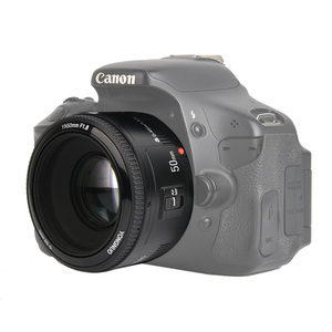 Image 1 - 재고! YONGNUO YN50mm f1.8 YN EF 50mm f/1.8 AF 렌즈 YN50 캐논 EOS DSLR 카메라 용 조리개 자동 초점