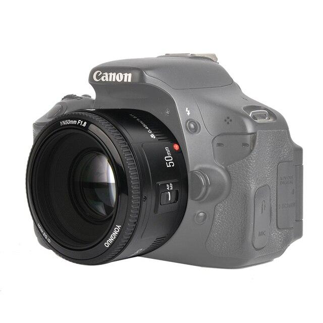 재고! YONGNUO YN50mm f1.8 YN EF 50mm f/1.8 AF 렌즈 YN50 캐논 EOS DSLR 카메라 용 조리개 자동 초점