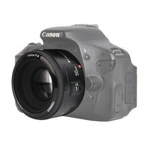 Image 1 - במלאי! YONGNUO YN50mm f1.8 YN EF 50mm f/1.8 AF עדשה YN50 צמצם פוקוס אוטומטי עבור Canon EOS DSLR מצלמות