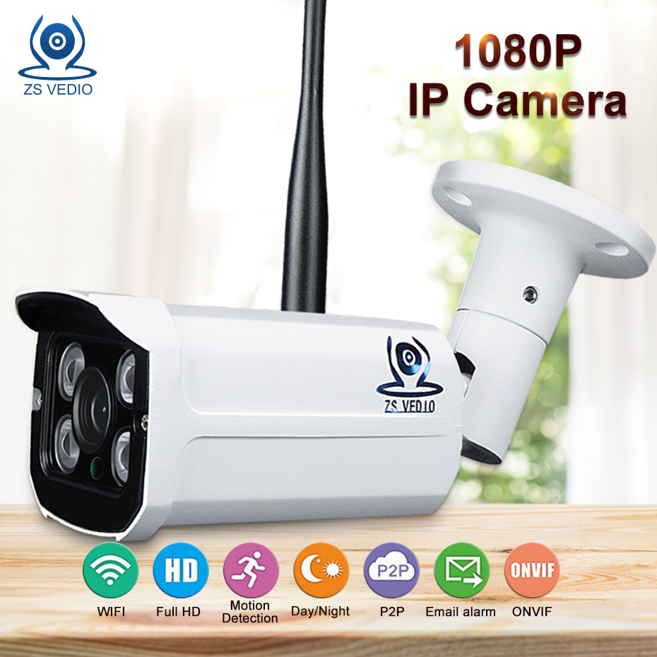 ZSVEDIO Surveillance Cameras ip camera wi fi security full hd onvif Waterproof Network Video Record 1080P