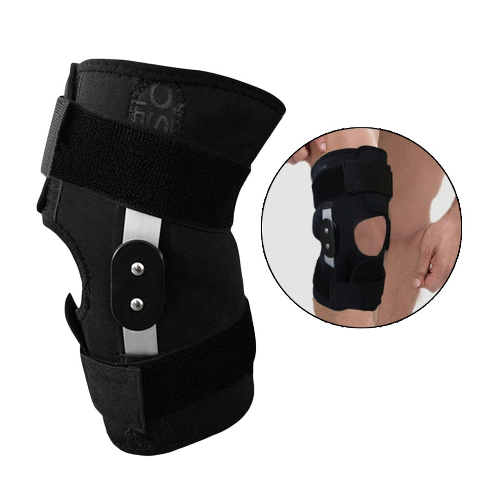 TSAI djustable Hinged Full Knee Support Brace Knee Pads Sport Injury Safety Guard Strap Knee Protection For Running Basketball