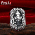Beier new store 100% 925 silver sterling rings for men high quality fine jewelry Ganesh rings   D0724