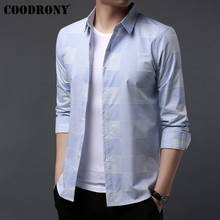 COODRONY Brand Men Shirt Autumn New Clothes Streetwear Fashion Casual Shirts Cotton Long Sleeve Camisa Masculina 96049