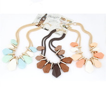 Kymyad Candy Color Fashion Jewelry Sets Geometric Necklaces & Pendants Multilayer Statement Necklace Earrings Sets For Women