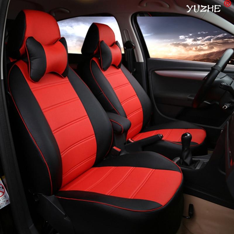 Yuzhe Leather car seat cover For Nissan Qashqai Note Murano March Teana Tiida Almera X-trai juke accessories styling cushion