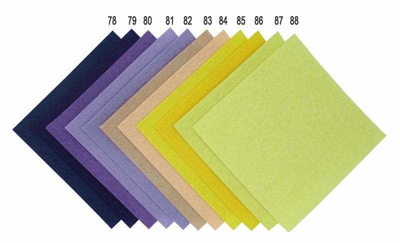 88 цветов/серия diy нетканый чувствовал ткань, ткань войлок, обширного полиэстер акриловые нетканых материалов 10 x 10 см