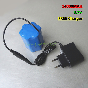 Multifunctional 3.7V 3.6v 14000MAH Lithium Ion li ion Rehargeable chargeable Battery for Power source with FREE Charger