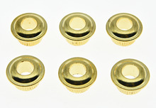 KAISH 30 Pcs 10mm METAL Vintage Tuners Conversion Bushings Nickel  Adapter Ferrules