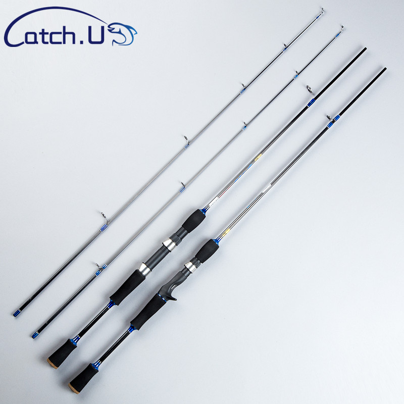 Catch.U Spinning Rod Carbon, Fishing Rods Lure Spinning Casting Rod Hard