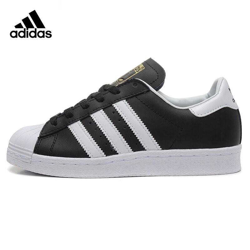 Trèfle ADIDAS Superstar Hommes et Femmes Chaussures de Marche, Sport, Noir résistant à L'usure Léger Respirant G61069