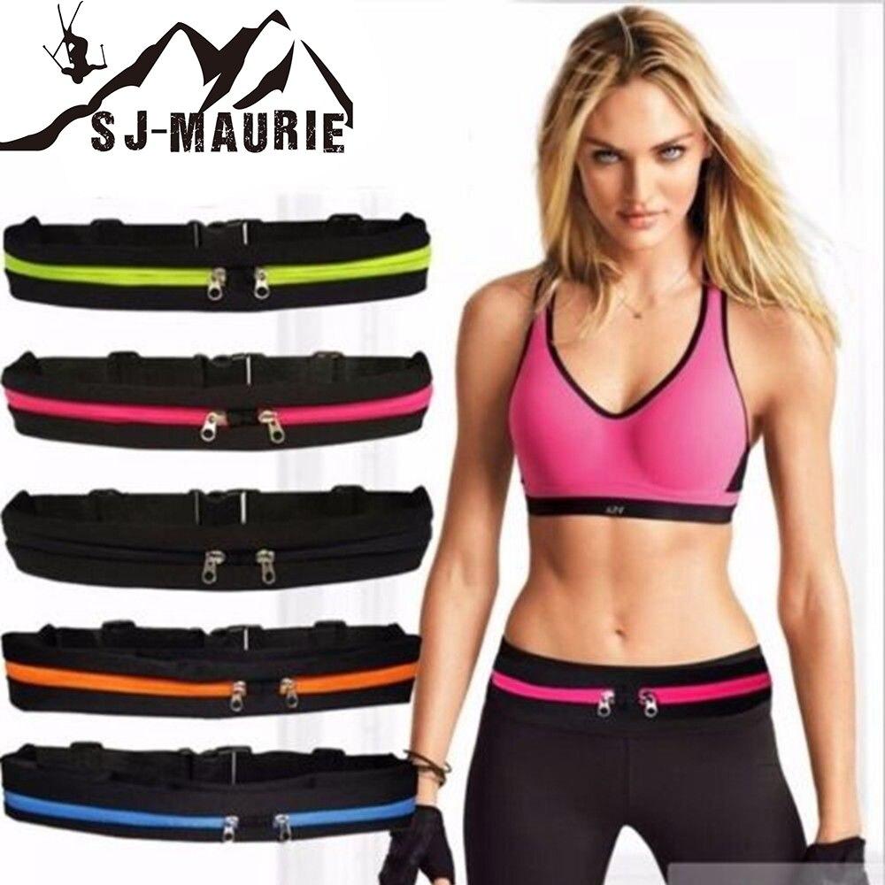 2018 Gym Fitness Sport Runner Taille Bum Tasche Laufen Jogging Gürtel Tasche Zip Fanny Pack Wasserdichte Lauf Cintura Bolsa 5 Farben
