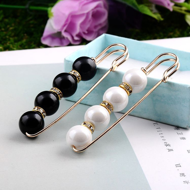 Big Beads Simulated Pearl Brooch Pin Dress Decoration Buckle Pin Jewelry Brooches For Men Women Apparel Accessories earrings