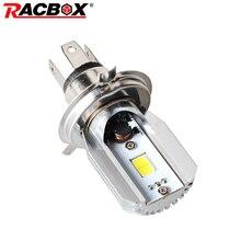Racbox играть и вилки H4 светодиодный мотоцикл фар лампы удара двигателя DC10-30V мотоцикл Туман свет лампы мопед скутер Hi/ ло луч биксенон