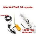 ¡ Nuevo!!! w/10dbi antena yagi + 10 metros de cable, 2100 Mhz 3G WCDMA repetidor de refuerzo, 3G señal del teléfono móvil amplier