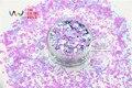 HI2515-261 Colores Mezclados Forma Hexagonal Cequis Del Brillo para el arte del clavo DIY decoración y adornos navideños