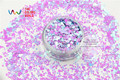 HI2515-261 Mixed  Colors Hexagon Shape Glitter Sequins for nail art  DIY decoration and Holiday decorations
