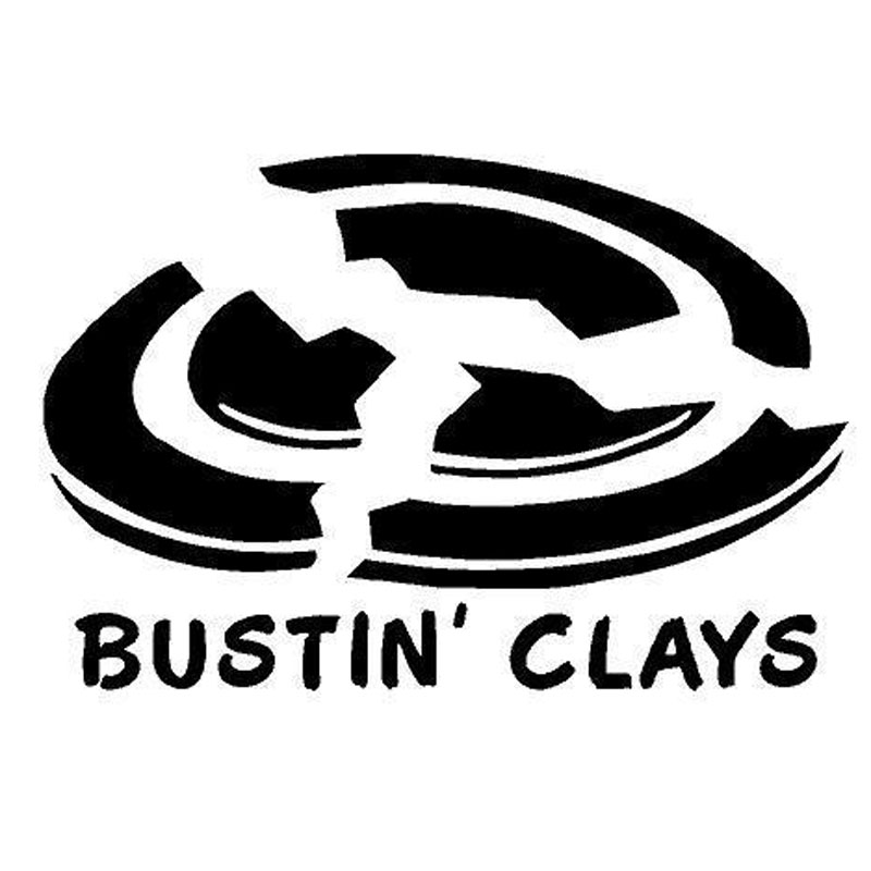 Bustin Clays BUY 2 GET 1 FREE Vinyl Graphic Decal Sticker Shooting Clay Pigeons