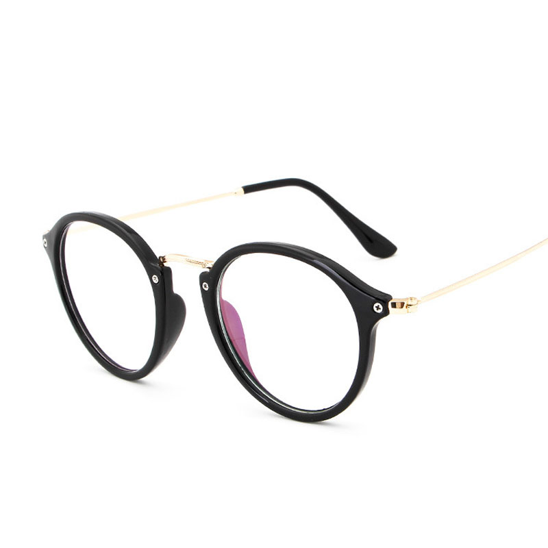 906ed937b5 Round Frame Men Women Anti blue Reading Glasses Hot sale Vintage Female  Glasses Frame Computer Clear Glasses Spectacle Frame-in Eyewear Frames from  Apparel ...