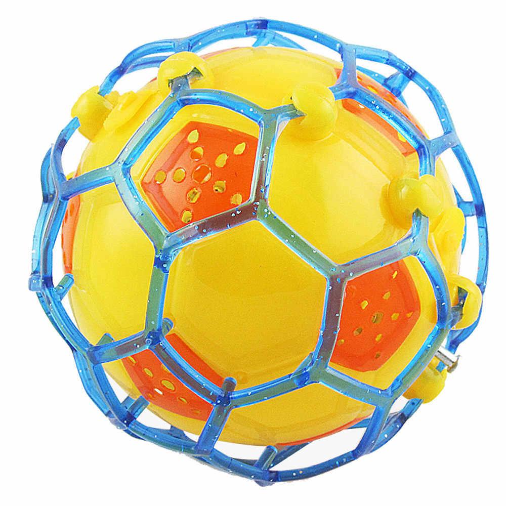 Lichtgevend bts легкий футбольный мяч TPR магический свет высокий прыгающий летающий шар детский спиральгоед люминесцентный светящийся игрушки для детей
