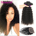 Virgin Brazilian Curly Hair With Closure Curly Hair With Closure Brazilian Hair With Closure 4pcs Human Hair Weave With Closure