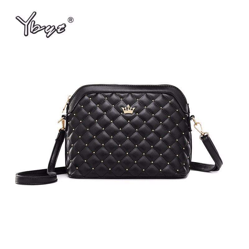 YBYT Women Satchel Crossbody-Bags Ladie-Bag Messenger Diamond Lattice Crown-Shoulder