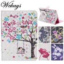 цена на Wekays Case for Apple IPad Mini 4 Cute Cartoon Butterfly Girl PU Flip Leather Capa Cover Case For iPad Mini 4 Mini4 model Fundas
