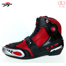 Professional motorcycle Pro-biker A009 leather windproof breathable slip road racing motorcycle riding boots shoes BPA09