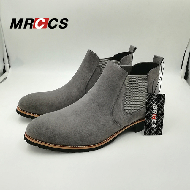 Spring Autumn Classical Suede Leather Chelsea Boots For Men,Simple & Fashion Ankle High Boots,Men's All Match Casual Shoes MRCCS