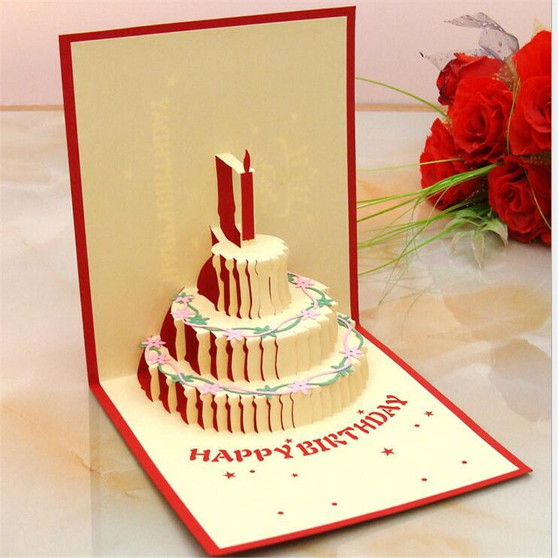 3d pop up greeting cards color cake birthday cardbirthday for Pop up birthday cards for mom