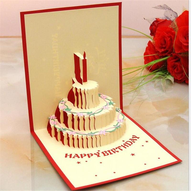 Us 199 3d Pop Up Kartu Ucapan Warna Kue Ulang Tahun Cardbirthday Ibu Hari Terima Kasih Natal In Kartu Undangan From Rumah Taman On Aliexpress