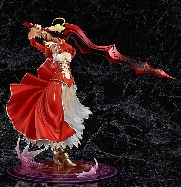 23cm Fate stay Night Fate/EXTRA Saber Lily 1/7 Scale Action Figures PVC brinquedos Collection Figures toys for christmas gift