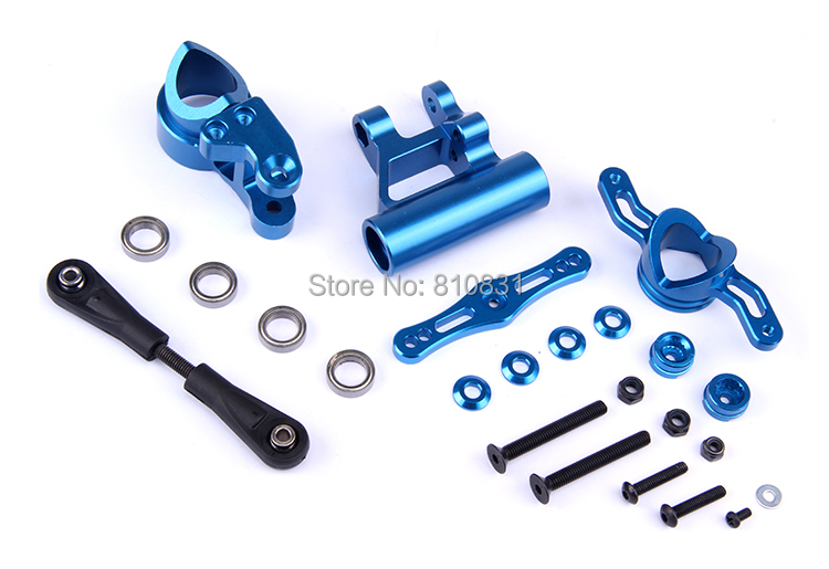 CNC metal arms steering group 87065 for LOSI 5t Rovan LT NEW rovan lt cnc metal middle differential assembly 87024